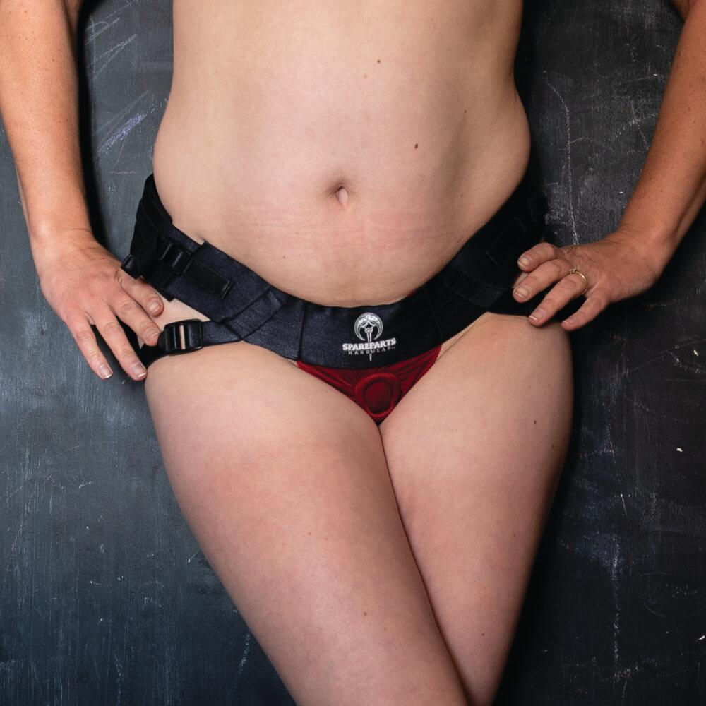 Spareparts-Joque-Red-Strap-on-Harness-Front